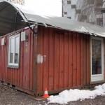 Un container en hiver, une solution d'hébergement?